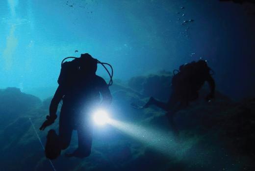 La Caye plongée de nuit